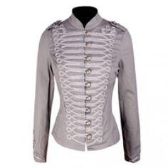 Grey Victorian Cotton Jacket