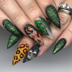 2019 Beautiful Nail Art Designs To Try Nail art is a creative way to color, decorate, enhance, and e Disney Acrylic Nails, Best Acrylic Nails, Summer Acrylic Nails, Summer Nails, Diy Nails, Cute Nails, Pretty Nails, Shellac Nails, Nail Swag