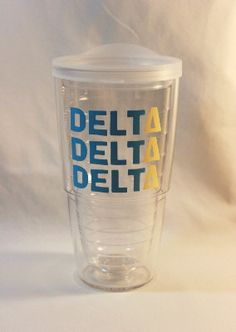Delta Delta Delta 24oz Tervis Tumbler by GameDayGirlsandGifts, $25.00