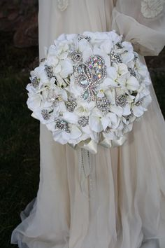 Brooch Bouquets For Sale | Brooch Bouquet - Rhinestone Bridal Bouquet - Elegant Classy Wedding ...