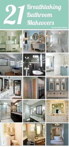21 breathtaking bathroom makeovers