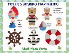 molde ursinho marinheiro em feltro - Pesquisa Google