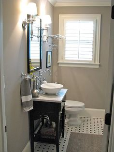 Ooh...I'm liking this gray for one of our bathrooms..:)