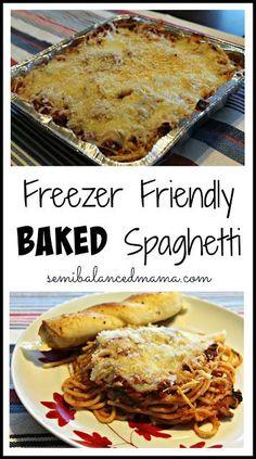 Best Spaghetti Recipe, Spaghetti Recipes, Freezer Cooking, Cooking Recipes, Batch Cooking, Meal Recipes, Turkey Recipes, Casserole To Freeze, Cooking