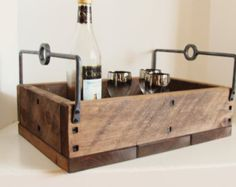 Reclaimed wood bar box