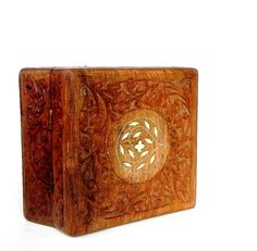 Vintage antique hand carved wood box from India by ZenBao on Etsy, $25.00