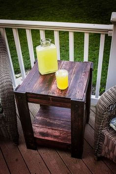 how to make a pallet end table for outdoors, how to, outdoor furniture, pallet, repurposing upcycling, woodworking projects