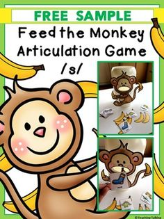 S Articulation Activities Speech Therapy Articulation Therapy, Articulation Activities, Speech Therapy Activities, Language Activities, Phonics, Speech Therapy Games, Speech Language Pathology, Speech And Language, Free Preschool