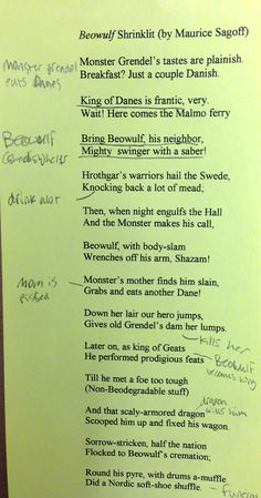 Beowulf - Analysis of the Epic