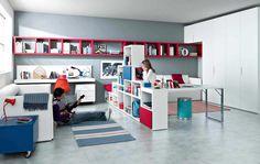 Зонирование детской комнаты для двоих детей