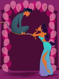 Jasmine - Les héroïnes de Disney vont à leur bal de promo - Grazia