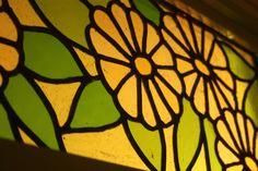 Close up of daisy fanlight window