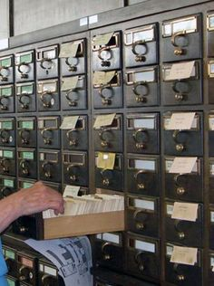 Library Card Catalogue....what we used before computers and Google!