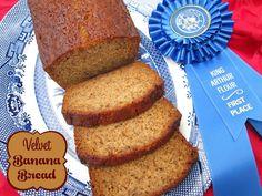 Velvet Banana Bread - 2015 King Arthur Flour Blue Ribbon Winner! You'll never guess the secret ingredient.