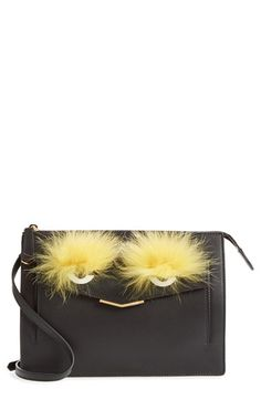 Fendi  Monster  Genuine Fox Fur  amp  Leather Crossbody Bag available at   Nordstrom cdb1069dd1d