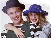 Kylie & Jason    They were a marketing dream. Two good-looking Aussies known by everyone under 25 from their roles in Neighbours.    With the help of British producers Stock, Aitken and Waterman they occupied the UK charts for practically the whole of 1989.    Then Jason went off to become Joseph in the West End and grow old.    Kylie remained 18 forever and continues to make hit records well into the 21st century.