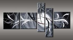 Abstract schilderij DREAMS - in zwart wit