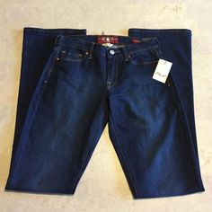 NWT Lucky brand dungarees size 2 26 New with tags size 2/26 long. Lucky brand jeans. Inseam is 34 inches and they are Sophia Boot Cut. Smoke free home, medium wash. 99% cotton and 1% spandex. Lucky Brand Jeans Boot Cut