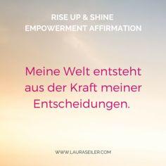 Rise Up & Shine Empowerment Affirmationen
