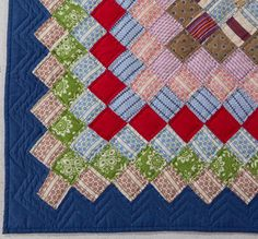AMERICAN BLOCK PATTERN PIECED YOUTH QUILT