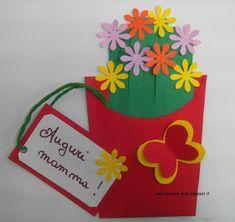 maestra Nella: Fiori per la mamma Kids Crafts, Diy And Crafts, Arts And Crafts, Paper Crafts, I Love You Mom, Mothers Day Crafts, Origami Paper, Creative Kids, Spring Crafts