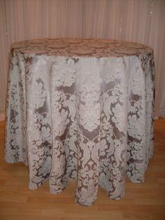 Silver Brocade #linen #damask #pattern #chairdecor #linenfactory #event #finelinen #tabledecor