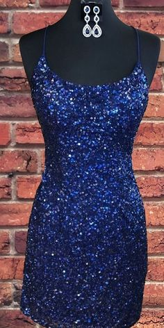 May 2020 - Sparkly Sequin Royal Blue Sheath Homecoming Dress Homecoming Dresses Tight, Hoco Dresses, Tight Dresses, Cute Dresses, Party Dresses, Formal Dresses, Short Sparkly Dresses, Blue Sparkly Dress, Sparkly Heels