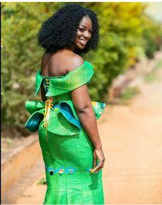 African Wear, African Women, African Dress, African Fashion Dresses, Fashion Outfits, Fashion Ideas, Kente Dress, Kente Styles, Traditional Dresses