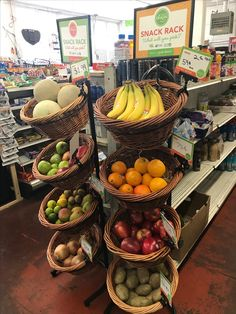 Who could resist a tasty bite from this Snack Rack in B&J Market's healthy checkout aisle? (B&J Market, Vallejo, CA, Healthy Food Choices, Healthy Options, Healthy Recipes, Fruit Displays, Tasty Bites, Made Goods, Liquor, Veggies, Banana