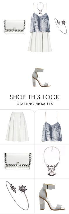 """Untitled #1002"" by elenekhurtsilava ❤ liked on Polyvore featuring River Island, Ashish, Proenza Schouler, LYRALOVESTAR and Office"