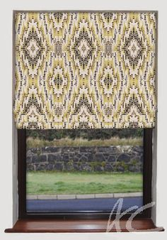 #Artiste #Mosaic #Chartreuse #Roman #Blind #New #Velvet #Yellow #Fabric