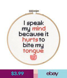 "Cross Stitch Kit Dimensions ""Say It!"" - Speak My Mind 70-74639 Oop Sale! #ebay #Home & Garden"