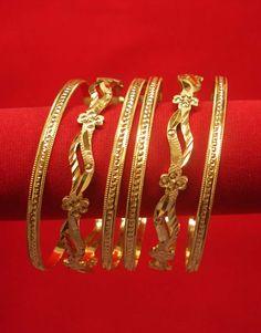 Gold Bangles Design, Gold Jewellery Design, Coral Jewelry, India Jewelry, Fine Jewelry, Bangle Set, Bangle Bracelets, Pakistani Jewelry, Gold Plated Bangles