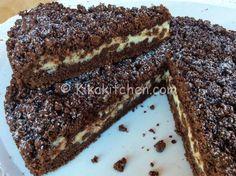 sbriciolata al cacao con ricotta e gocce di cioccolato