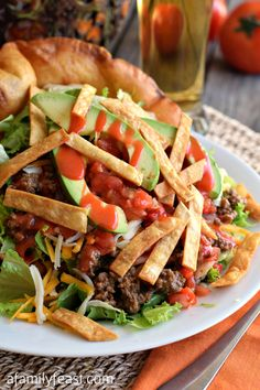 Just in time for Cinco de Mayo - The best Taco Salad recipe - with a homemade Catalina Dressing that is outstanding!