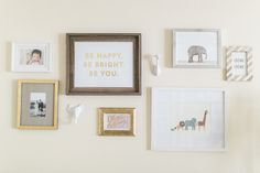Project Nursery - Gallery Wall in this Neutral Golden Nursery