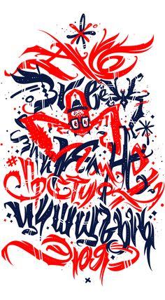 Cyrillic ABC poster by Pokras Lampas, via Behance