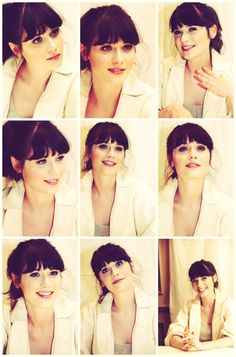 Zooey. This makes me want bangs again.