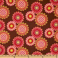 Michael Miller Ooh La La Les Fleurs Spice Brown - Discount Designer Fabric - Fabric.com