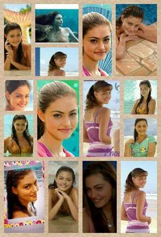 Cleo from H2O. In the first episode Cleo cant swim, but once she becomes a mermaid she really has no choice. Cleo is one of he sweetest girls in the cast.