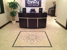 Reception Desk Spa Interior, Nail Spa, Envy, Reception, Desk, Desktop, Office Desk, Offices, Table