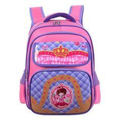 Children's Cartoon-Print Luxury Quality Nylon Backpack 5 Colors