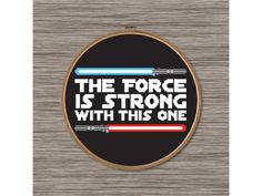 PDF Cross Stitch Pattern: Star Wars Quote with by DJStitches