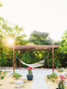 Have extra room in backyard that isn't being used? Add a hammock for instant relaxation and style.