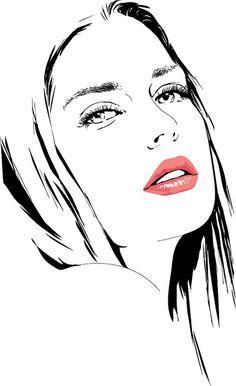 Girl Vector Portrait II by annie_stru, via Flickr