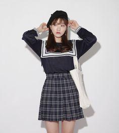 Dress Up Confidence! 66girls.us Plaid Semi-Elasticized Skort (DHMS) #66girls #kstyle #kfashion #koreanfashion #girlsfashion #teenagegirls #younggirlsfashion #fashionablegirls #dailyoutfit #trendylook #globalshopping