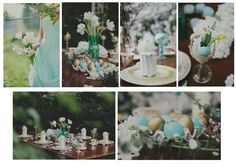 Aqua and Gold, Easter Wedding http://www.pierrecarr.com/blog/2013/04/wedding-inspiration-aqua-gold/ #PierreCarr #Moodboards