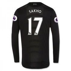 Liverpool 16-17 Mamadou #Sakho 17 Udebanesæt Lange ærmer,245,14KR,shirtshopservice@gmail.com