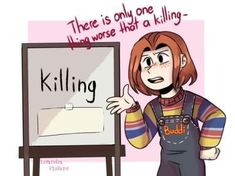 i'm in love with the landscape Creepypasta Cute, Chucky Horror Movie, Chucky Movies, Horror Movie Art, Horror Films, Scary Movies, Funny Horror, Cursed Child, Horror Movie Characters