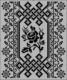 Beaded Cross Stitch, Cross Stitch Borders, Modern Cross Stitch, Cross Stitch Flowers, Cross Stitch Designs, Cross Stitching, Cross Stitch Patterns, Blackwork Embroidery, Folk Embroidery
